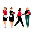 business women in formal clothes vector image vector image
