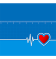 Cardiograms Medical heart rhythm Heart vector image
