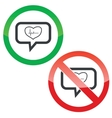 Cardiology message permission signs vector image vector image