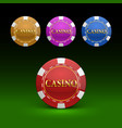casino chips color set color vector image vector image