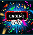 casino congratulations frame vector image vector image