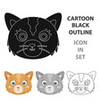 cat muzzle icon in cartoon style isolated on white vector image