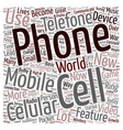 Cell Phone In Every Pocket text background vector image vector image