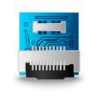 Chip computer processor vector image