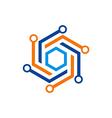 circle abstract technology logo vector image vector image