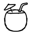 coconut cocktail icon vector image