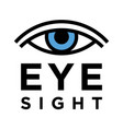 conceptual eyesight test sign vector image