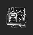 cta marketing chalk white icon on black background vector image vector image