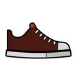 cute brown shoe cartoon vector image vector image