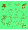 Doodle food thanksgiving party vector image vector image
