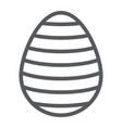 easter egg line icon easter and decoration vector image vector image