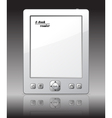 ebook reader vector image