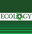 ecology word for background vector image vector image