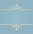 elegant golden knot sign blue and beige pastel vector image vector image