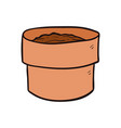 empty plant earthen pot cartoon and vector image vector image