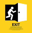Exit Graphic Sign vector image vector image