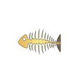 Fishbone computer symbol vector image