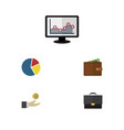 flat icon incoming set of graph portfolio vector image vector image