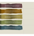 four consecutive torn paper with lots room vector image vector image