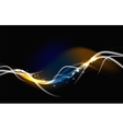 Glowing flowing waves and stars in dark space vector image