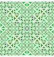 green repeating kaleidoscope pattern background vector image vector image