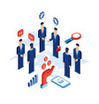 group of businessman people close deal successful vector image
