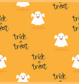 halloween little ghost pattern vector image vector image