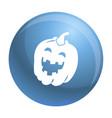 halloween pumkin icon simple style vector image vector image