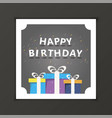happy birthday template gift card premium vector image