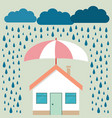 home protection plan concept in vector image vector image