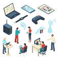 internet of things isometric set vector image vector image