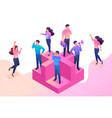 isometric join our team we need professionals vector image