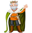 King with green robe vector image vector image