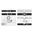 leather belt monochrome pictures vector image
