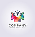 logo template forms a person with a head in vector image