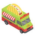 mexican food truck icon isometric style vector image vector image