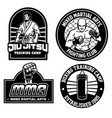 mma training camp badge design vector image