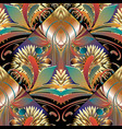 modern bright floral seamless pattern colorful vector image