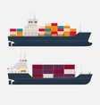 modern cargo ships on white background vector image