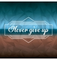 motivational message design vector image