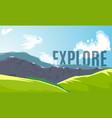 mountain peaks banner vector image