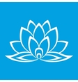 New lotus flower sign vector image vector image