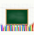 notebooks and colored pencils vector image vector image