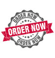 order now stamp sign seal vector image vector image