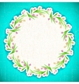 Pattern flower Background april web vector image