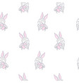 rabbit pattern seamless pattern vector image vector image