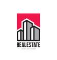 real estate - logo template concept vector image