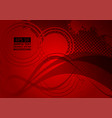 red wave abstract background with copy space vector image