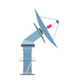 satelite dish icon antenna radar radio vector image