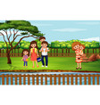 scene with people in park vector image vector image